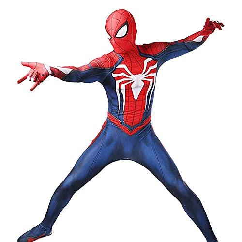 LGGQDC Traje de Cosplay de Spiderman Disfraz de Spiderman PS4 Mallas de Traje de actuación escénica 3D Spandex Lycra Mono Unisex Adultos Niños Carnaval de Halloween