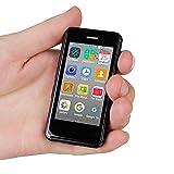 Mini Smartphone Android Unlocked Cell Phone Child Phone 2.5' Quad Core 1GB 8GB 8.0MP Super Ultra-Thin Mini Mobile Phone Melrose S9X Small Smart Phone (Black)