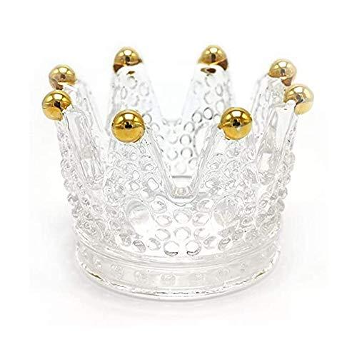 Chnrong Soporte para anillo de corona, bandejas, anillos de boda, pulseras, pendientes, collares, expositores, bandejas, regalos de Navidad, cumpleaños, San Valentín para mujeres y niñas