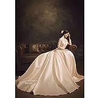 ポートレート写真撮影の背景ダークブラウングラデーション無地背景結婚式のシャワー Photocall フォトスタジオ-250x180CM