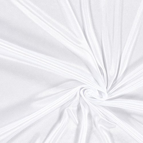 Futterstoff Charmeuse – weiss — Meterware ab 0,5m — STANDARD 100 by OEKO-TEX® Produktklasse I — zum Nähen von Futter, Abend- und Partymode und Tops/T-Shirts