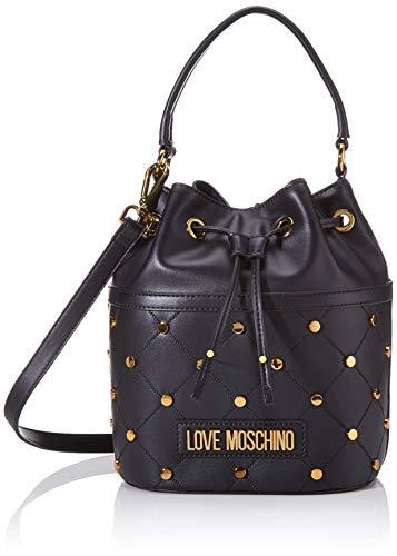 Love Moschino Jc4097pp1a, Borsa a secchiello Donna, Nero (Nero), 17x21x25 cm (W x H x L)