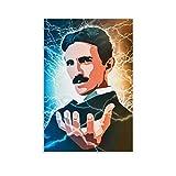 20 Nikola Tesla Leinwand-Poster, Promi-Poster, Wandkunst,