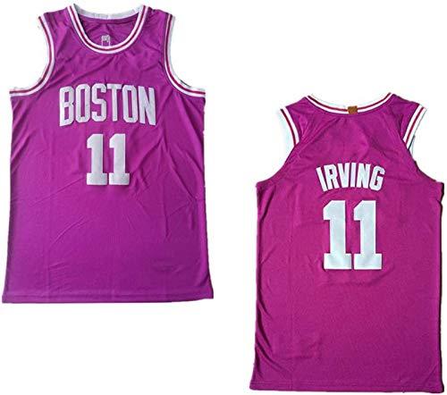 Camiseta de Baloncesto de los Hombres NBA Boston Celtics 11# Kyrie Irving Cómodo/liviano/Transpirable Malla Bordada Swing Swing Sworkman Sweatshirt,2,M