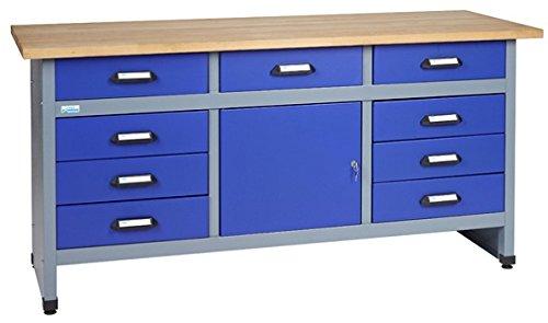 Küpper Werkbank Modell 12877, Breite 170 cm Farbe ultramarinblau