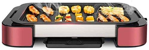 Barbecue elektrische grill 1000 Watt Table Rotating bakplaat Grill Teflon Coating eenvoudig te reinigen Elektrische grills hsvbkwm (Upgrade) QIANGQIANG