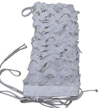 Filet de Camouflage,150D Polyester Blanc Toile D'Ombre,Filet de Protection Solaire ExtéRieur,pour la Chasse Militaire L'armée Tente Jardin Décoration Cache Voiture Auvents Terrasse(8x10m/26.2x32.8ft)