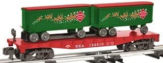 6-48563 AF Reindeer Express Flatcar w/Piggyback Trailer by Lionel