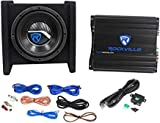 Rockville RV8.1A 400w 8' Loaded Car Subwoofer Enclosure+Mono Amplifier+Amp Kit