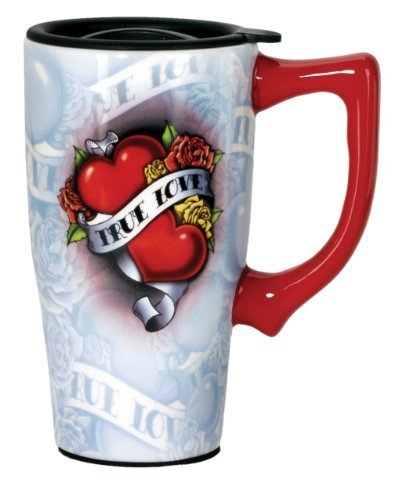 Spoontiques True Love Travel Mug, Multi Colored by Spoontiques