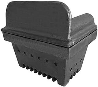 Brasero de hierro fundido para estufa de pellets, 129mm de altura, boca de 151x 125mm, chapa de 6mm
