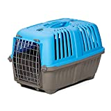 Pet Carrier: Hard-Sided Dog Carrier, Cat Carrier, Small Animal Carrier in Blue| Inside Dims 20.70L x 13.22W x 14.09H & Suitable for Tiny Dog Breeds | Perfect Dog Kennel Travel Carrier for Quick Trips