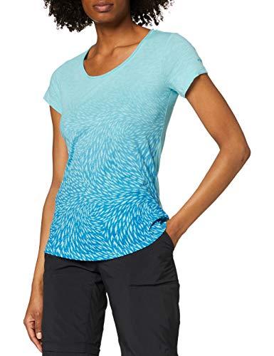 Columbia Ocean Fade Tee T-shirt à Manches Courtes, Femme, Bleu, S