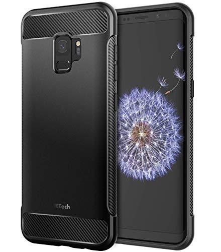 JETech Cover per Samsung Galaxy S9, Custodia con Assorbimento degli Urti e Design in Fibra di Carbonio (Nero)