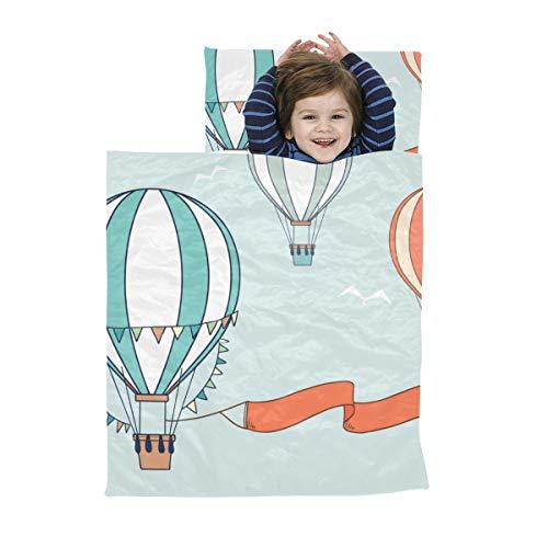 Reiseschlafsack für Kinder Luftballon Niedlicher Ballon Aquarell Schlafsäcke Kinder Weiche Mikrofaser Leichtes Kleinkinder-Schlafbett Perfekt für Vorschule, Kindertagesstätte und Übernachtungen