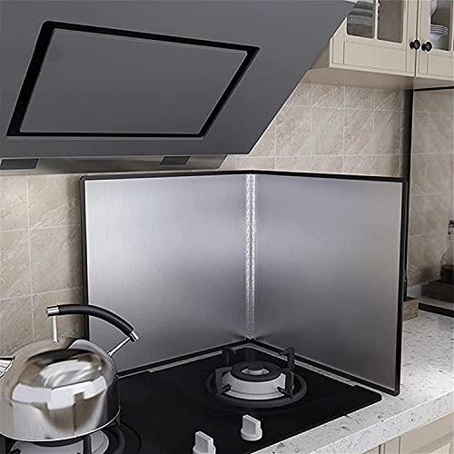 FANNISS0901 Protecciones antisalpicaduras,Protector Cocina Gas,Contaminación por Aceite Material de Acero Inoxidable para...