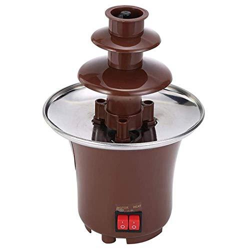 JIEZ Fuente de Chocolate, Fuente de Olla de Chocolate de 3 Capas, máquina de fusión de Chocolate con calefacción de Acero Inoxidable para el hogar, Boda, Fiesta de cumpleaños