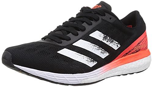 adidas Adizero Boston 9 M, Zapatillas Unisex Adulto, Core Black FTWR White Solar Red, 46 EU