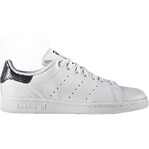 adidas Originals Stan Smith Metallic Snake Kinder Turnschuhe Leder Schuhe Weiß, Farbe:Weiß, Schuhgröße:EUR 27