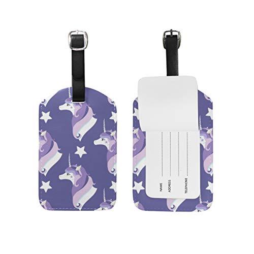 Etiquetas de Piel para Equipaje con diseño de Unicornio y Elfo, para Maleta o Maleta 2031411