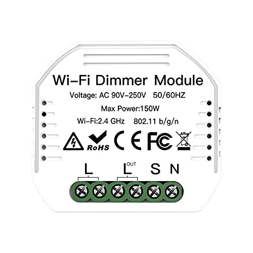 Easyeeasy DIY Smart WiFi Light LED Dimmer Switch Smart Life / Tuya App Control Remoto Interruptor de 1/2 vía, Funciona con Alexa Echo Google Home