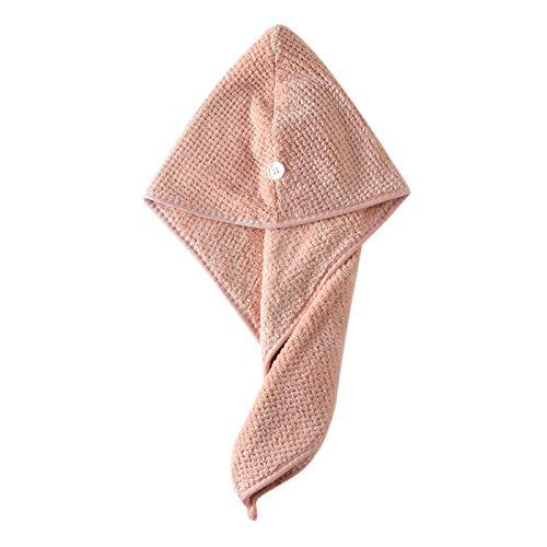 N\A Toalla Turbante para el Pelo, El Recorrido al Aire Kits Toalla Precio al por Mayor Gorro de baño de Secado rápido Toalla Adulto Gorro de Ducha Toalla de Mano de la Cara (Color : Pink)