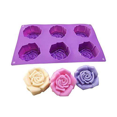 Molde de silicona para hacer moldes de jabón multifuncionales de 1 pieza para hacer jabón Molde de jabón de silicona Molde para hornear de cupcakes Moldes para hacer moldes-29.5x17.5x3.5cm-,