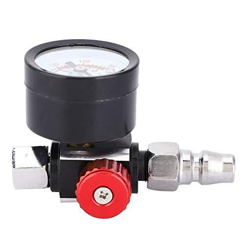 """1/4"""" Druckregler, Druckluftregler Druckminderer mit Manometer für Pneumatischer Spritzpistolen und Druckluftwerkzeuge"""