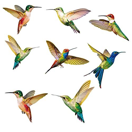 Pegatinas de la ventana del arco iris Etiqueta engomada de cristal 8pcs ventana de aves decoración calcomanías de cine estático decoración de la casa simulación pintura Dormitorio, Baño, Oficina