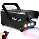 MOSFiATA Fog Machine with Controllable Lights, Continuously Spray 500W Professional DJ LED Smoke Machine 3 Color Light with Wireless Remote Control 2000 CFM Huge Fog for Halloween Holidays Parties