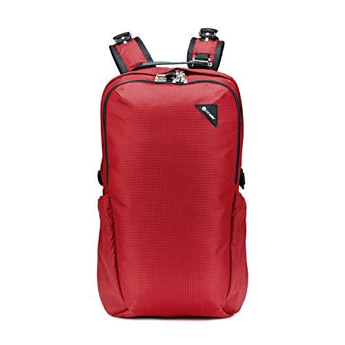 Pacsafe Vibe 25 - Anti-Diebstahl Backpack, Diebstahlschutz Daypack, Rucksack 25 Liter, Rot/Goji Berry