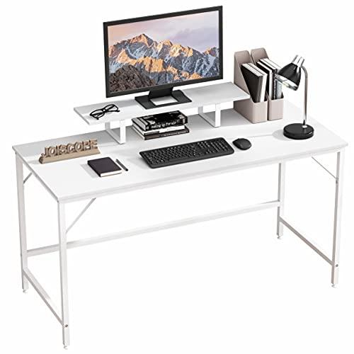 JOISCOPE Scrivania per Computer con ripiano Mobile,Scrivania,scrivania Industriale,Installazione Semplice,55 Pollici,140 cm (Finitura Bianca)