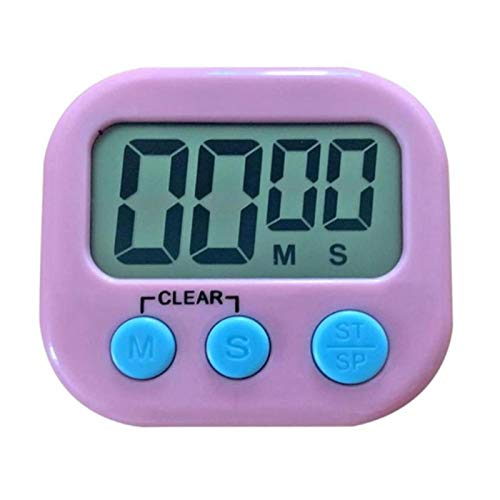 WAMZD Pantalla Digital LCD Temporizador de Cocina Cocina magnética Cuenta atrás Alarma Reloj Swatch de sueño Herramientas para el hogar Cocina Cocina