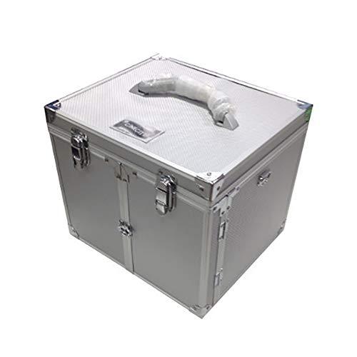 Valigia in alluminio porta trucchi grande TRIO - VUOTA - Cinecittà Make Up