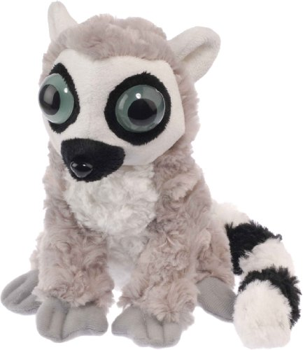 Wild Republic 86737 - Wows, Ringelschwanz Lemur, 18 cm - Augen leuchten im Dunkeln