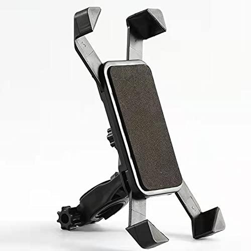 SunAurora Soporte Móvil Bicicleta, Soporte Movil Moto, Soporte Móvil Bicicleta Ajustable/Universal para 5-8 Pulgadas Smartphones con Rotación 360°