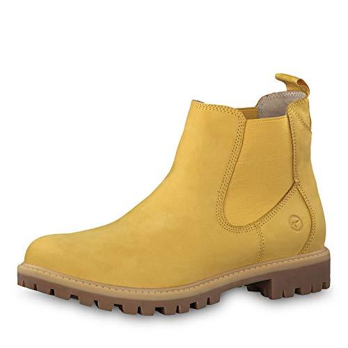 Tamaris Damen Stiefeletten 25401-23, Frauen Chelsea Boots, Women Woman Freizeit leger Stiefel halbstiefel Stiefelette Bootie,Saffron,40 EU / 6.5 UK