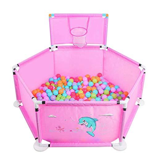 XRFHZT Enfants Clôture Enfant Clôture Jouet Bébé Jouer Clôture Intérieur Et Extérieur Enfants Maison Marine Piscine,Pink