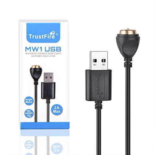 TrustFire - Linterna de bolsillo con cargador magnético USB MC1, MC12, MC3, linterna de bolsillo y Fenix E18R, E30R, HM61R