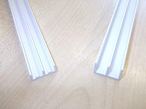 Innovo Vivarium Glasschienen, 6 mm x 450 mm, Weiß, 1 Paar