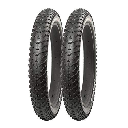 P4B | 2 pneumatici da bicicletta Fatbike da 26 pollici | 26 x 4.00 | 98 – 559 | Fat Tires | particolarmente adatti per fango e neve | in nero