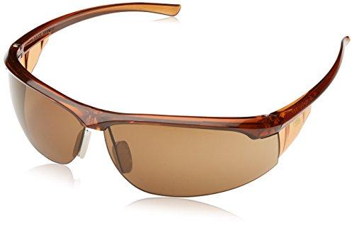 3M Refine3 Schutzbrille, AS/AF/UV/PC, Bronze Getönt, Rahmen Braun