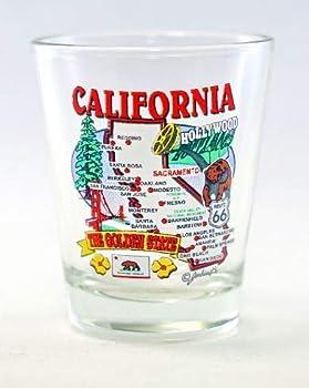 California State Elements Map Shot Glass
