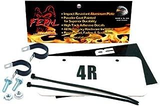 Aluminum ATV-UTV License Plate Kit - WHITE
