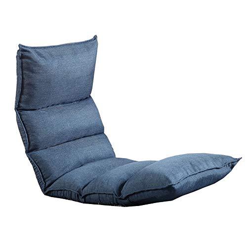 LJFYXZ Chaise de Sol Réglage à 5 Vitesses Fauteuil Pliable Facile à enlever et à Laver Seul Petit canapé Siège (Couleur : Bleu)