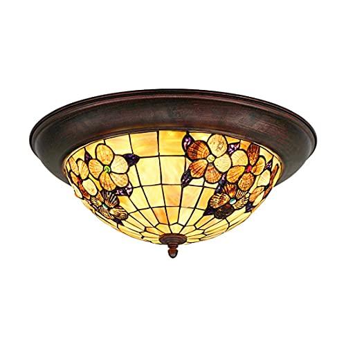 Lámpara de techo, luz de baño Lámparas de techo, lámpara de techo de techo 24W Lámpara de techo invertida de estilo tiffany con tifón con tiffa con tiffa con tiffa con tiffa con tiffa con tiffan