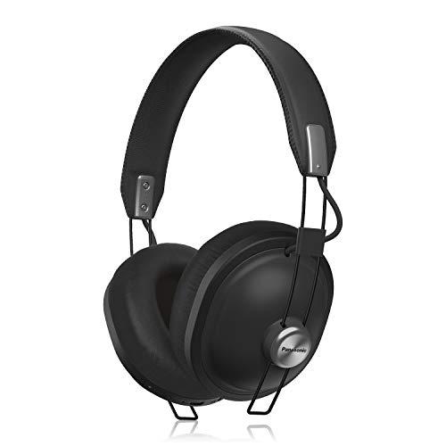 Panasonic Retro RP-HTX80B-K Wireless Bluetooth Over the Ear Headphone with Mic (Matte Black)