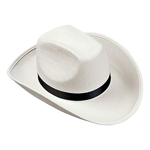 Fun Express White Cowboy Hat - Costume and Toy for Halloween, Parties and Play