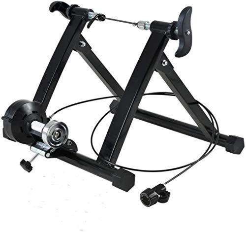 Cubierta de bicicleta de ejercicios Trainer, portátil de acero inoxidable plegable Bicyle Soporte SOPORTE bici de ciclo de entrenamiento con volante magnético, Tamaño: 20-24 pulgadas mt02wired