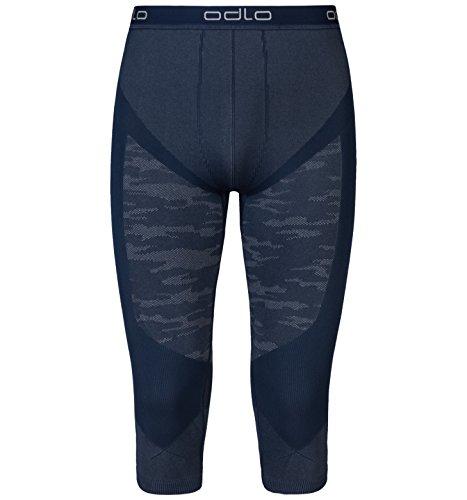 Odlo Suw Performance Blackcomb Pantalon 3/4 pour Homme XL Navy New/Black/Concrete Grey Melange